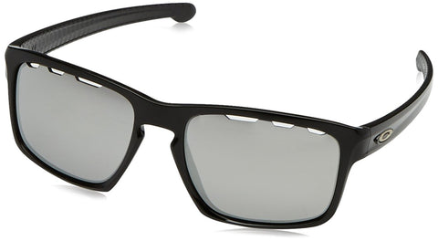 Oakley Mens Sliver Machinist Sunglasses, Matte Black/Chrome Iridium, One Size - Usa-optical.com
