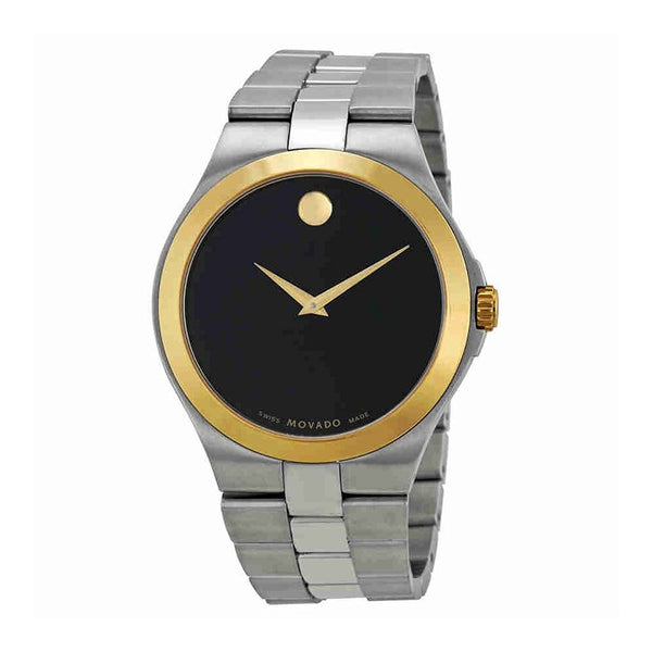 Movado Black Dial Stainless Steel Quartz Men's Watch 0606557 - Usa-optical.com