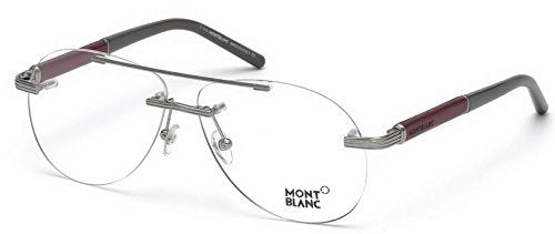 Mont Blanc Men's Optical Frame Metal Non-Polarized Glasses 58 - Usa-optical.com