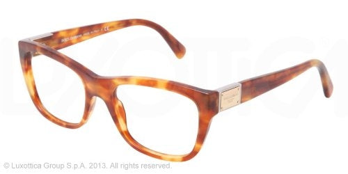 Dolce & Gabbana DG3171 Eyeglasses-706 Light Havana-52mm - Usa-optical.com