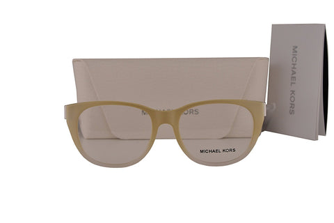 Michael Kors MK8011 Phuket Eyeglasses 50-16-135 Oak White Crystal 3038 MK 8011 - Usa-optical.com