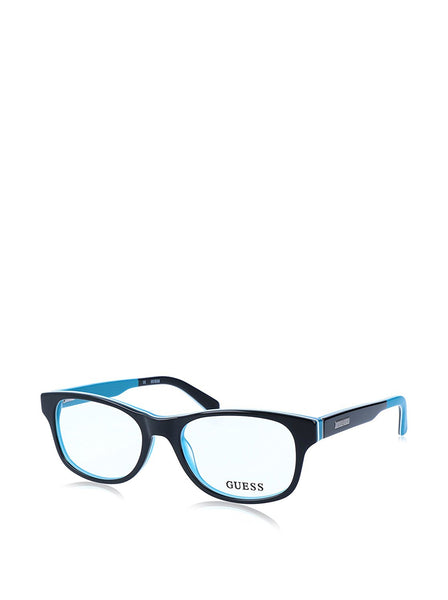 Guess - GU1858, Geometric, acetate, men, BLACK TURQUOISE(005), 51/17/140 - Mall Bloc