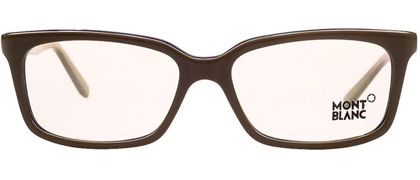 Montblanc MB 0429/V 059 Khaki Rectangular Opticals - Usa-optical.com