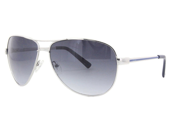 Guess GUF 106 72A Silver Grey Gradient Sunglasses - Mall Bloc