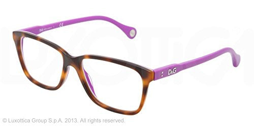 D&G Eyeglasses DD 1238 2608 Havana 52MM - Usa-optical.com