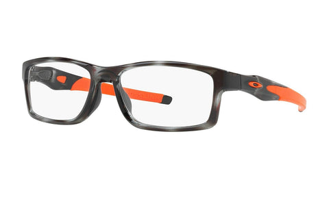Oakley RX Eyewear-Crosslink Trubridge Asia Fit (56) - Grey Tortoise / Orange Frame Only - Usa-optical.com