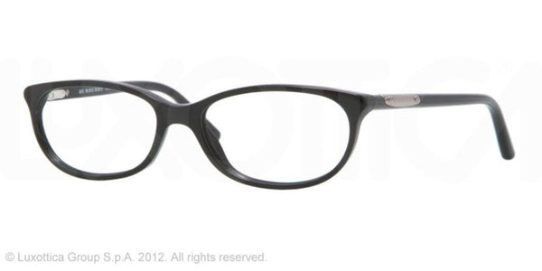 Burberry BE2097 Eyeglasses 3001 Shiny Black - Mall Bloc