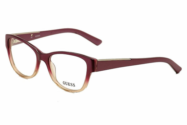 Guess eyeglasses GU 2383 PUR Acetate plastic Purple - Transparent Purple - Mall Bloc