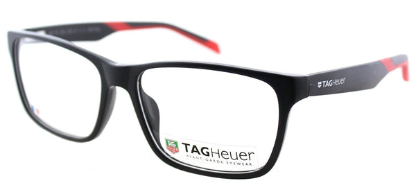 TAG B-URBAN 0552 C-005 Matte Black With Red Plastic Rectangle Eyeglasses - Usa-optical.com