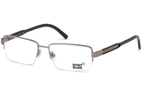 Mont Blanc - MB0623, Geometric, metal, men, PEWTER(034 C), 58/16/140 - Usa-optical.com