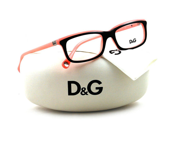 DOLCE&GABBANA D&G Eyeglasses DD 1214 BLACK ON PINK 1878 DD1214 - Usa-optical.com