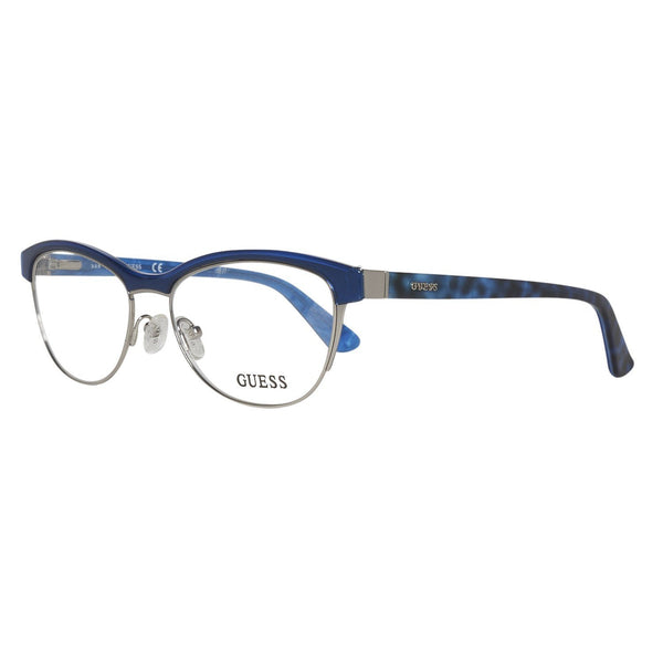 GUESS Eyeglasses GU2523 090 Shiny Blue 52MM - Mall Bloc