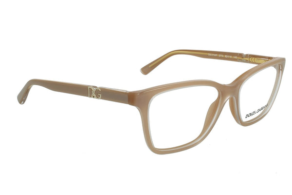 Dolce & Gabbana DG3153P Eyeglasses-2773 Top Crystal On Pearl Sand-54mm - Mall Bloc
