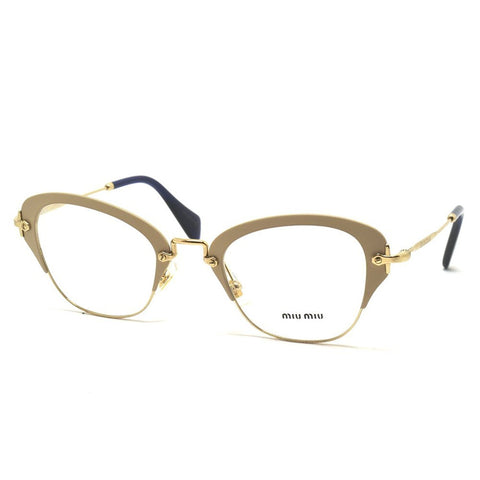 Miu Miu - NOIR VMU53O, Cat Eye, metal, women, MATTE IVORY(UFZ-1O1), 50/24/140 - Usa-optical.com