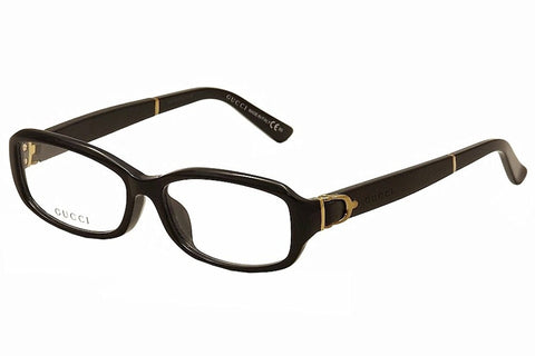 Gucci Eyeglasses 3667/F 3667F 75Q Black Leather Optical Frame 53mm (Asian Fit) - Mall Bloc