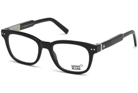 MONT BLANC Men's Eyeglasses 52 Shiny Black - Usa-optical.com
