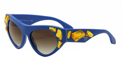 Prada PR21QS Sunglass-SMO/0A7 Blue (Gray Gradient Lens)-56mm - Usa-optical.com