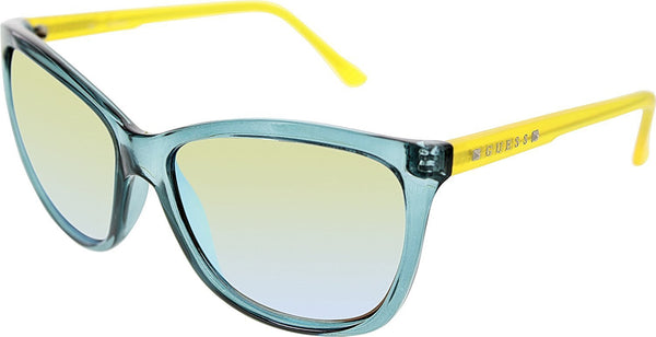 GUESS Eyewear Square Sunglasses (Teal) - Mall Bloc