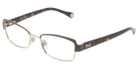 Eyeglasses D&G DD5102 1101 BROWN/PALE GOLD DEMO LENS - Usa-optical.com
