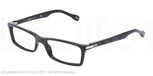 D&g Logo Plaque Dd1211 Eyeglasses 501 Black Demo Lens 50 16 135