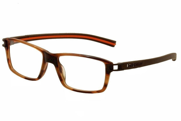 Tag Heuer Eyeglasses Track S TH7601 TH/7601 002 Brown/Orange Optical Frame 55mm - Usa-optical.com