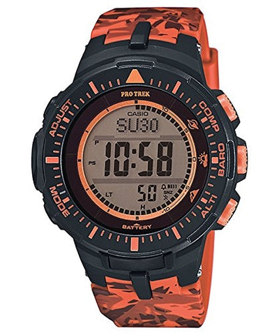 Casio Mens Pro Trek TRIPLE SENSOR Digital Dress Solar Watch NWT PRG-300CM-4D - Mall Bloc