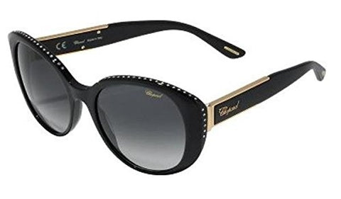 Chopard - SCH191S, Cat Eye, acetate, women, BLACK/SMOKE SHADED(700Y), 54/19/135 - Mall Bloc