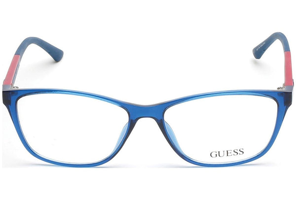 Guess - GU2497, Cat Eye, acetate, women, BLUE RED(090), 55/15/135 - Usa-optical.com