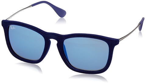 Ray-Ban CHRIS - FLOCK BLUE Frame BLUE MIRROR Lenses 54mm Non-Polarized - Usa-optical.com