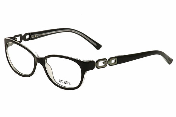 GUESS Eyeglasses GU 2407 Black Clear 53MM - Mall Bloc