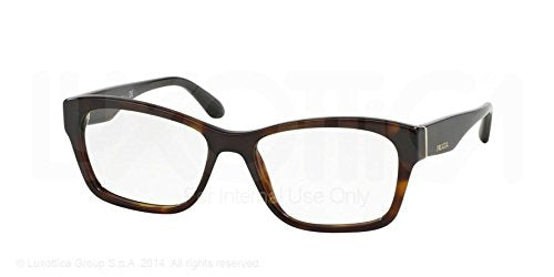 Prada Voice Eyeglasses PR24RV 2AU1O1 Havana 52 16 140 - Usa-optical.com