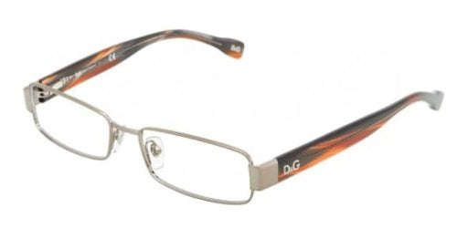 Dolce and Gabbana Glasses 5091 1012 Gunmetal and Brown 5091 Rectangle Sunglasse - Usa-optical.com