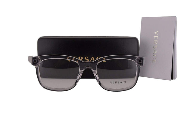 Versace VE3239 Eyeglasses 54-20-145 Transparent Gray w/Demo Clear Lens 593 VE 3239 - Usa-optical.com