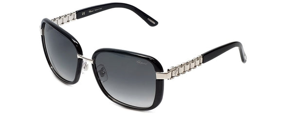 Chopard - SCHA64S, Oversize, acetate/strass, women, BLACK PALLADIUM/SMOKE SHADED(0579 P), 58/17/135 - Mall Bloc