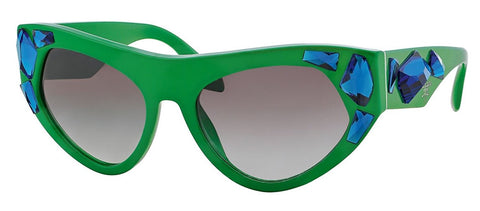 Prada PR21QS Sunglass-SMP/0A7 Green (Gray Gradient Lens)-56mm - Usa-optical.com