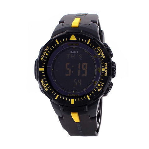 Casio Men's PRG300-1A9DR Pro Trek Triple Sensor Tough Solar Digital Display Quartz Black Watch … - Mall Bloc