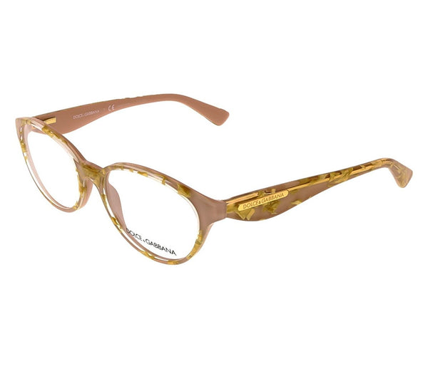 Dolce & Gabbana DG3173 Eyeglasses-2749 Leaf Gold On Powder-51mm - Usa-optical.com