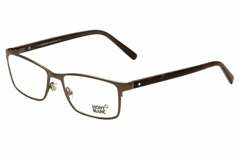 Mont Blanc - MB0543, Geometric, metal, men, MATTE DARK RUTHENIUM(009 A), 55/17/145 - Usa-optical.com