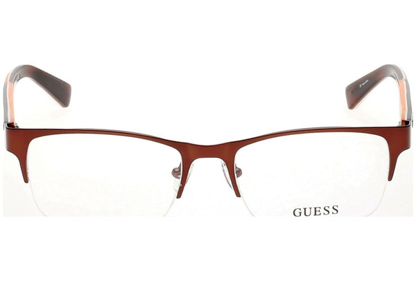 Guess - GU1859, Geometric, metal, men, BURGUNDY ORANGE(049), 54/18/140 - Usa-optical.com