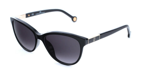 Carolina Herrera Women's Sunglasses SHE642 700 Black w/Gray Gradient Lens - Mall Bloc
