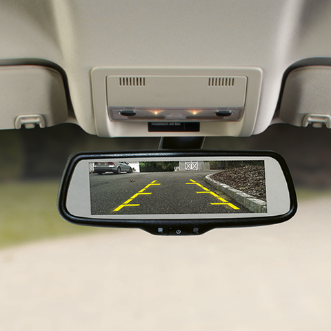 "Voxx Mirror with 7.3"" Wide Screen Monitor Built In"