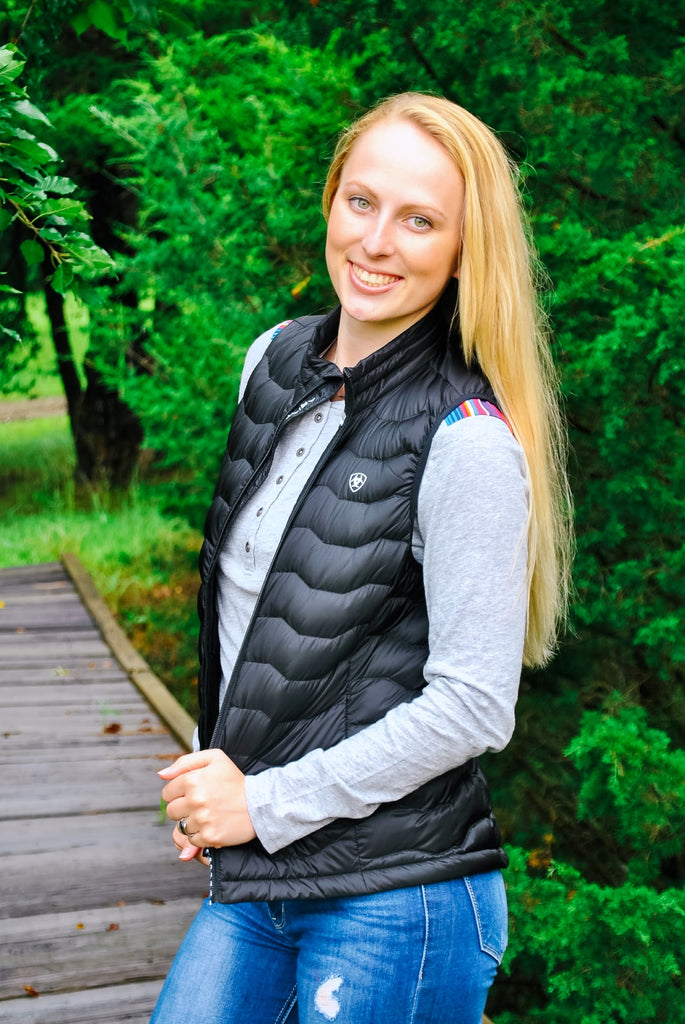 Ariat Down Vest- Black