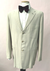 Mens 1950s lightweight gaberdine jacket blazer, half lined for summerwear