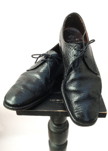 Buy size 8.5 vintage antelope black leather lace up shoes by grenson.