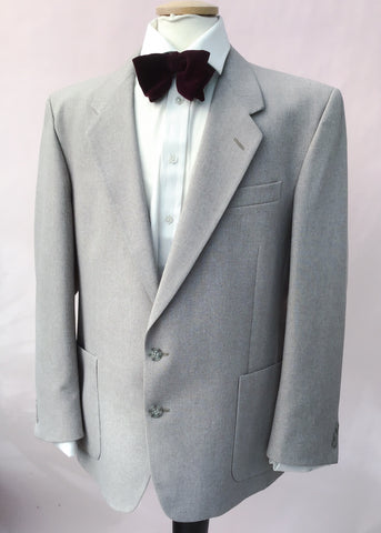 1970s Men's Vintage Grey Blazer Sports Jacket 44R