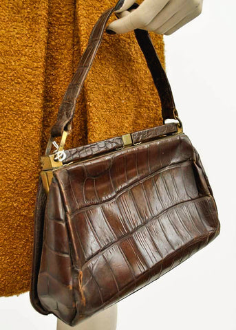 Genuine 1940s crocodile handbag