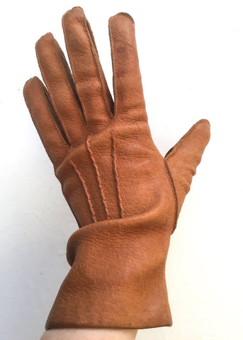 vintage pigskin leather gloves size 7 for sale