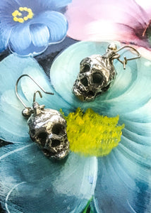 Vintage punk rock skull earrings