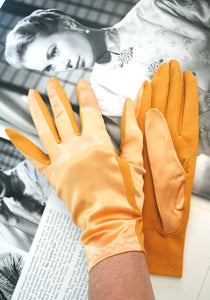 1960s vintage short mustard gloves