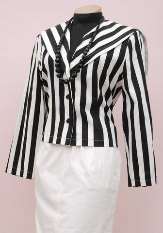 80s charlotte halton striped sailor collar steampunk pirate jacket